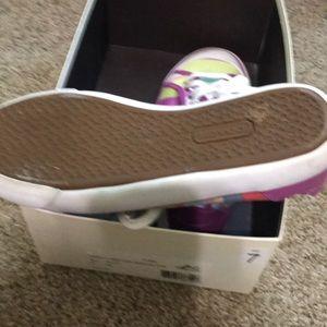 Coach Shoes - Coach lace up striped tennis shoes size 7